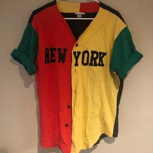Vintage New York Jersey Button Up